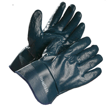 Winter Insulated Nitrile Coated Work Gloves, Safety Cuff - Hi Vis Safety