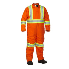 Load image into Gallery viewer, Winter Lined Cotton Canvas Safety Coverall - Hi Vis Safety