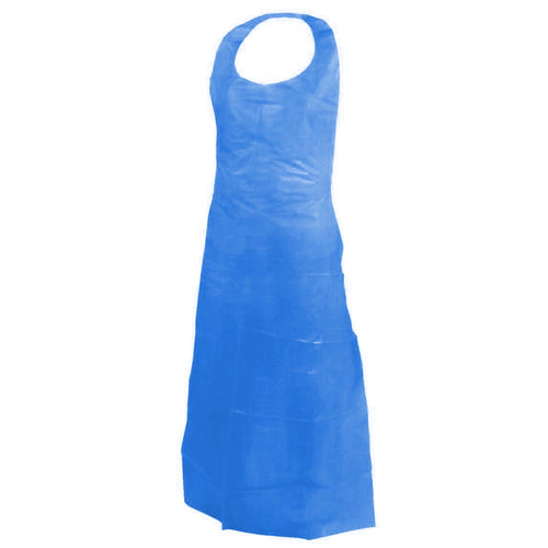 Blue Disposable Polyethylene Apron (Case of 1000 Aprons)