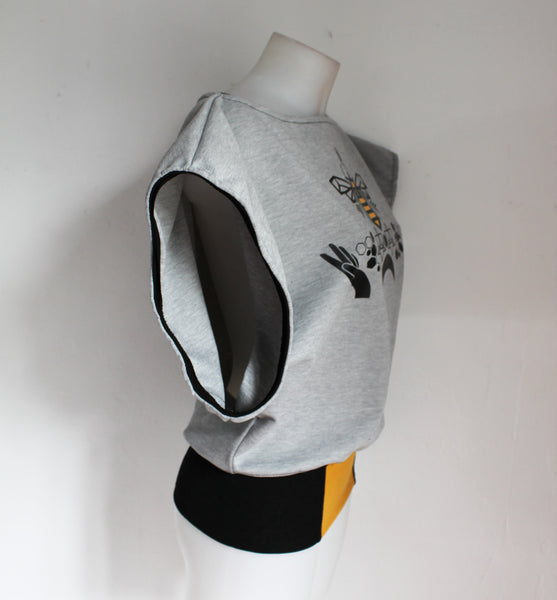 Tee shirt Loose P20 HC TM Bee Grey Yellow