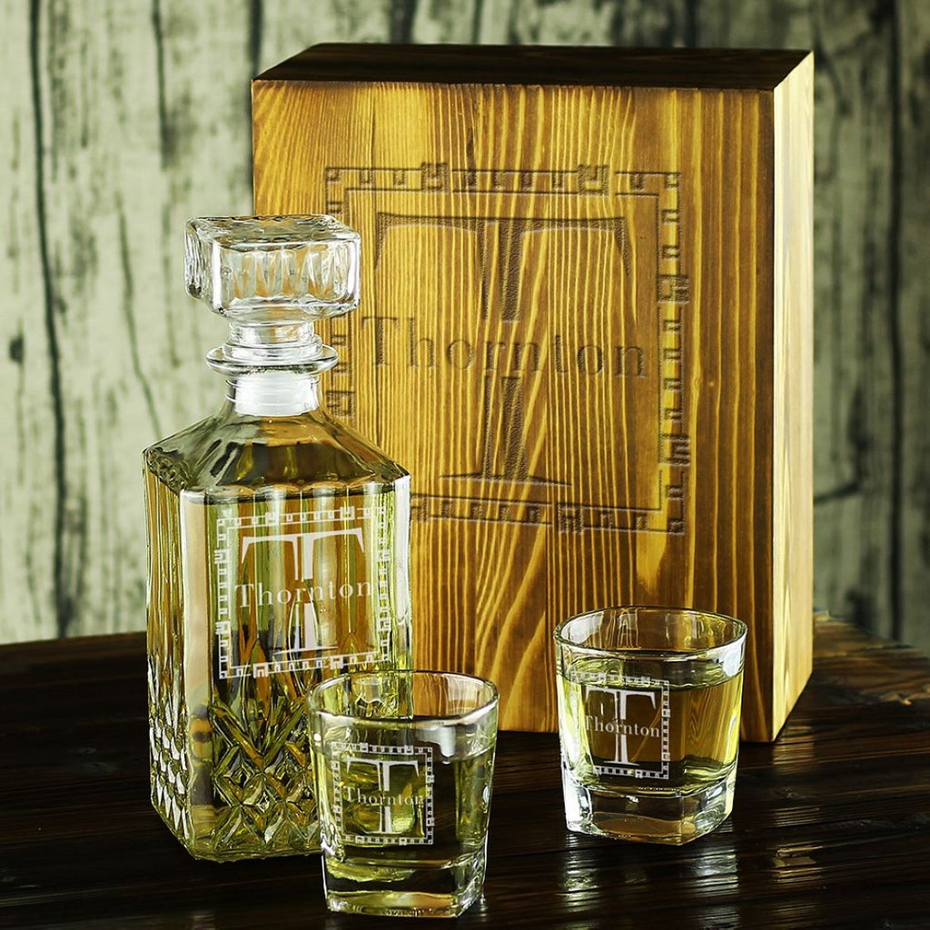 groomsmen gifts, whiskey decanter set