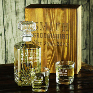 Personalized Decanter Set, Groomsmen Gifts ideas - GiftCustomization