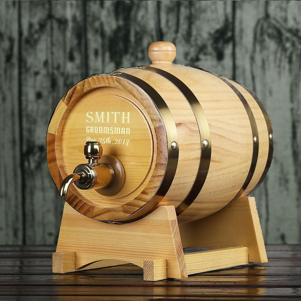 Personalized Whiskey Barrel Groomsman Gifts, Groomsmen Gifts - GiftCustomization