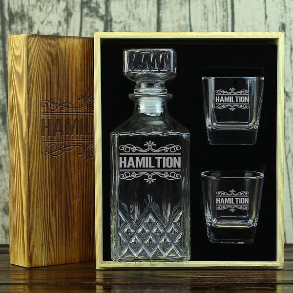 Personalized Decanter Set, Cool Groomsmen Gift - GiftCustomization