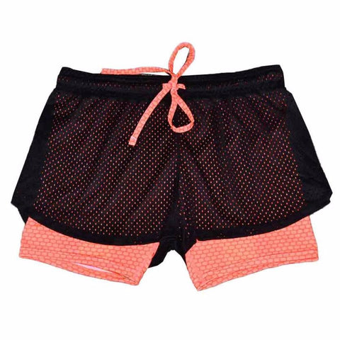 Heal Orange Women Sport Fitness Yoga Shorts Women Athletic Shorts Cool Ladies Sport Running Short Fitness  Jogging 2 In 1 #EW