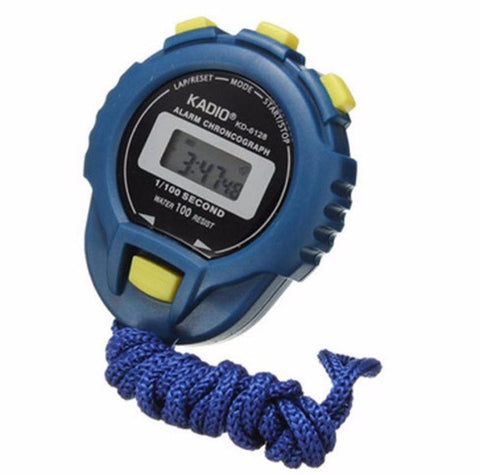 HIgh Quality Fashion Sport Watch LCD Chronograph Digital Timer Stopwatch Sport Counter Odometer Blue Watch Alarm