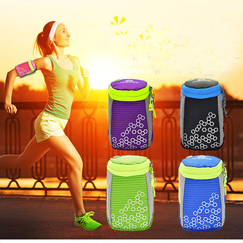 Huwaijianfeng Waterproof Running Arm Bag Jogging Pouch Gym Hand Bag Sports Bag for Mobile Phone Running Accessories #EW