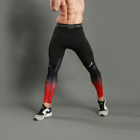 LASPERAL Fitness Men Running Tights Print Bodybuilding Crossfit Sports Leggings Athleisure Sportswear Plus Sizes Elastic Pants