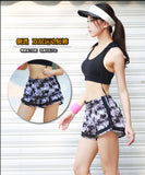 Double Layer Women Sports Shorts Gym Workout Yoga Running Short Pants