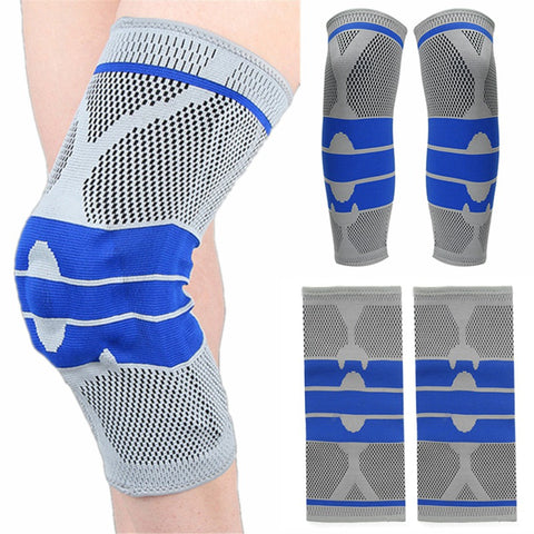 Hot Sale Elastic Knee Pads Wrap Support Brace Arthritis Injury Sprain Sleeve Protector Patella Guard Running Volleyball Kneepad