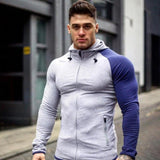 Mens Running Jackets Hoodie Singlets Sweatshirts Mens Sport Hoodies Stringer Bodybuilding Fitness Men's Exercise Workout Jacket