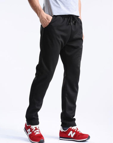 2018 New Men Running Pants Soft Sport Pants Jogging Pants Gym Trousers Football Training Sweat Loose Straight Sportswear