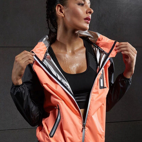 Hot Sweat Women Yoga Shirts Quick-drying Sport Zipper Jackets Long Sleeve Fitness Running Tops Training Hooded Coat Sportswear