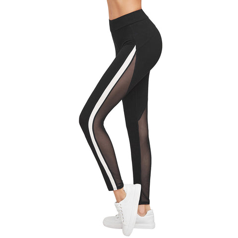 Women YOGA Mesh Running Sport Pants Workout Leggings Fitness Trousers