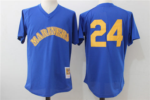 MLB  Men's Seattle Mariners Ken Griffey Jr. Retirement Patch Edgar Martinez Robinson Cano  Randy Johnson jerseys