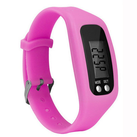 10 Colour Digital Walking Distance Counter Run Step Watch