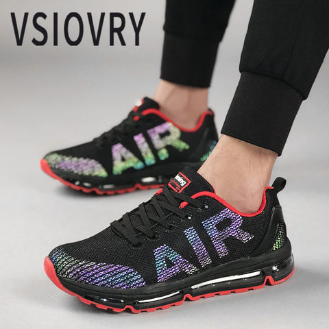 VSIOVRY Spring Men Sneakers 2018 Fashion New Discoloration Flats Casual Shoes Autumn Breathable Air Cushion Soft Unisex Trainers