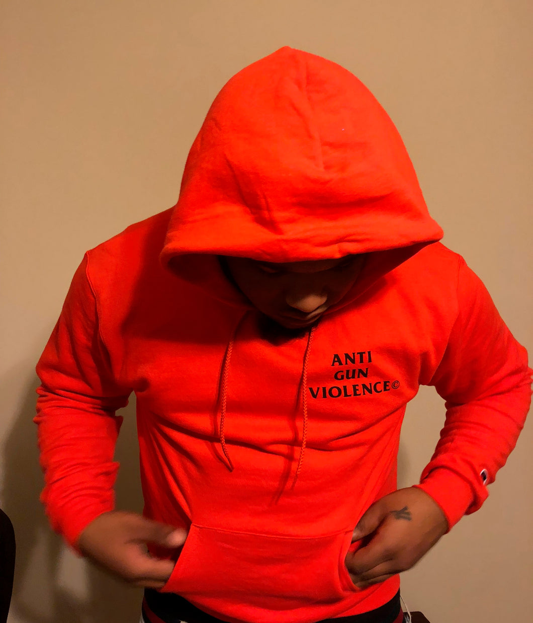 EL CAMINO EXCLUSIVE ANTI GUN VIOLENCE HOODIE 'ORANGE' COLORWAY