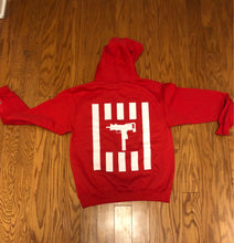 Load image into Gallery viewer, RED ANTI GUN VIOLENCE HOODIE