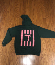 Load image into Gallery viewer, GREEN/PINK ANTI GUN VIOLENCE HOODIE