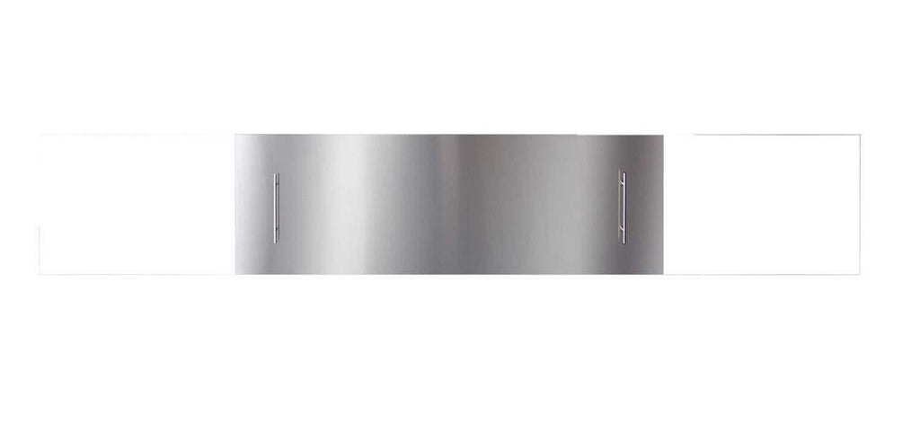 "Stainless steel cover for 40"" SLIM or DEEP fireplace - Mandatory for Outdoor Models"