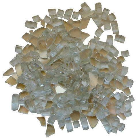 Amantii Clear Reflective Fire Glass - 5 lbs. - AMSF-GLASS-01 - eFireplaceDirect.com