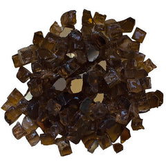 Amantii Light Brown Reflective Fire Glass - 5 lbs. - AMSF-GLASS-02 - eFireplaceDirect.com