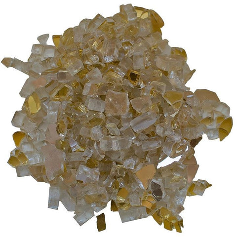 Amantii Champagne Reflective Fire Glass - 5 lbs. - AMSF-GLASS-04 - eFireplaceDirect.com