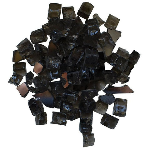 Amantii Dark Grey Reflective Fire Glass - 5 lbs. - AMSF-GLASS-05 - eFireplaceDirect.com