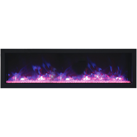 Remii Extra Slim Indoor/Outdoor Frameless Built-in Electric Fireplace - eFireplaceDirect.com