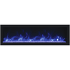 Image of Remii Deep Full Flame Indoor/Outdoor Frameless Built-in Electric Fireplace - eFireplaceDirect.com