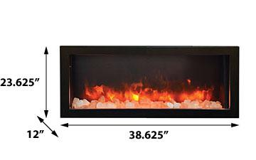 Amanti Panorama Built-in Series BI-40-DEEP-OD Electric Fireplace