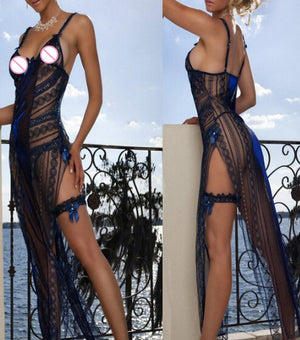 Shipping Within One Day Hot Sales Plus Size Elastic Sexy Lingerie Gown Nightwear S M L XL 2XL 3XL B9046