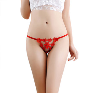 Women Sexy Lingerie Low Waist Lace Thong Panty G String Sexy Women Underwear BK