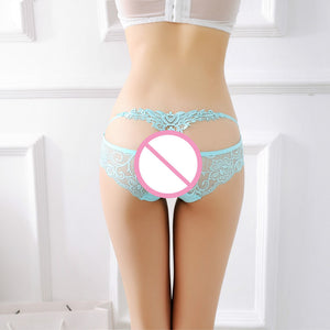 Women's Sexy Lace Transparent Comfort Breathable Briefs Panties BG