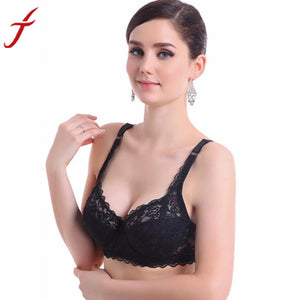 Bras for Women Sexy Push Up Deep V Bra Ultrathin Underwire Padded Lace Brassiere Bra #L15