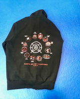 Hoodie - Inosanto Academy - Zipper Hooded Sweatshirt - Red & White