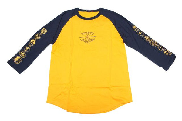 Long Sleeve - Absorb What Is Useful - Baseball Shirt - Blue & Gold