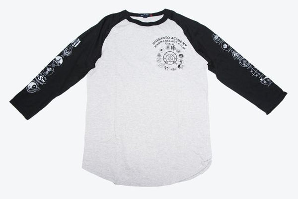 Long Sleeve - Inosanto Academy - Baseball Shirt - Black & Gray
