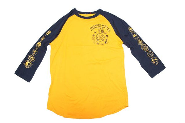 Long Sleeve - Inosanto Academy - Baseball Shirt - Blue & Gold