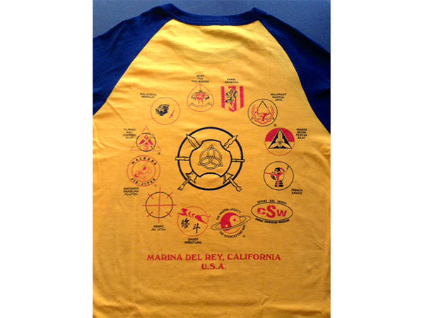 Long Sleeve - Inosanto Academy - Baseball Shirt - Blue, Red & Gold