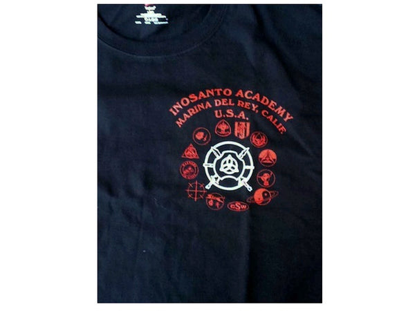 T-Shirt - Inosanto Academy - School Shirt - Black, Red & White