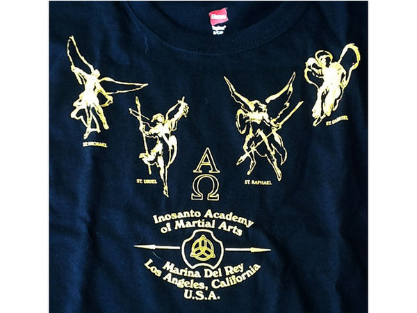 T-Shirt - Inosanto Academy - Angel Necklace - Black & Gold