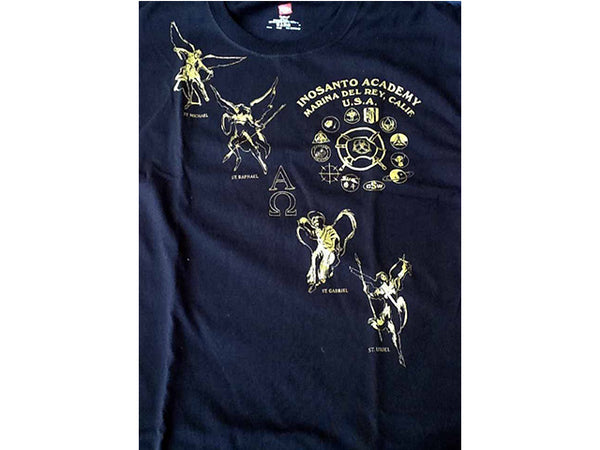 T-Shirt - Inosanto Academy - Angel Sash - Black, Red & Gold