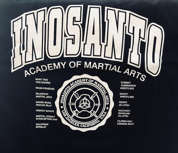 T-Shirt - Inosanto Academy - University T-Shirt - Black with White Logo