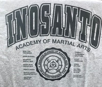 T-Shirt - Inosanto Academy - University T-Shirt - Gray with Black Logo