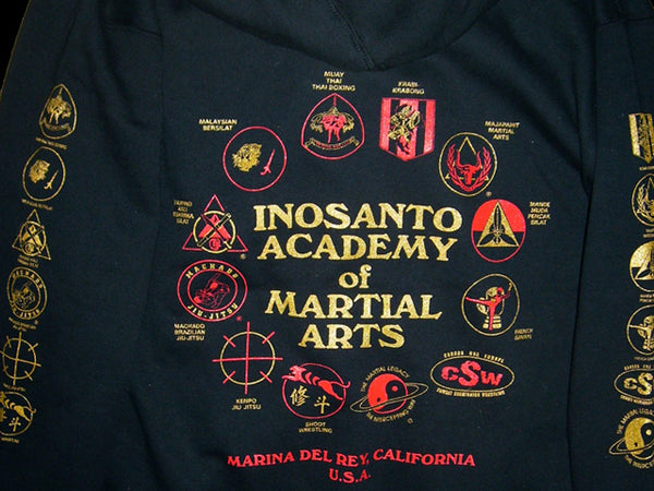 Hoodie - Inosanto Academy - Zipper Hooded Sweatshirt - Red & Gold Shield