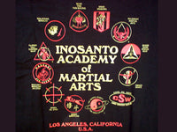 T-Shirt - Inosanto Academy - School Shirt - Shield Logo - Black, Red & Gold