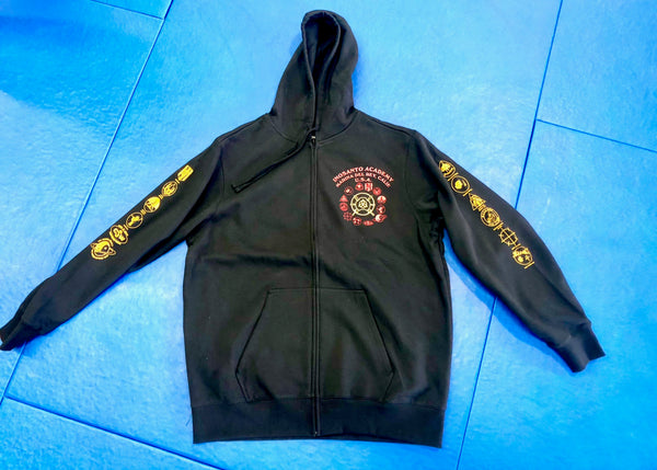 Hoodie - Inosanto Academy - Zipper Hooded Sweatshirt - Red & Gold
