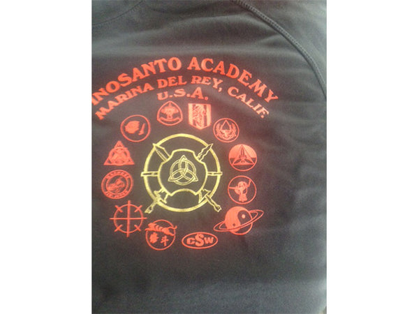 T-Shirt - Inosanto Academy - School Shirt - Black, Red & Gold